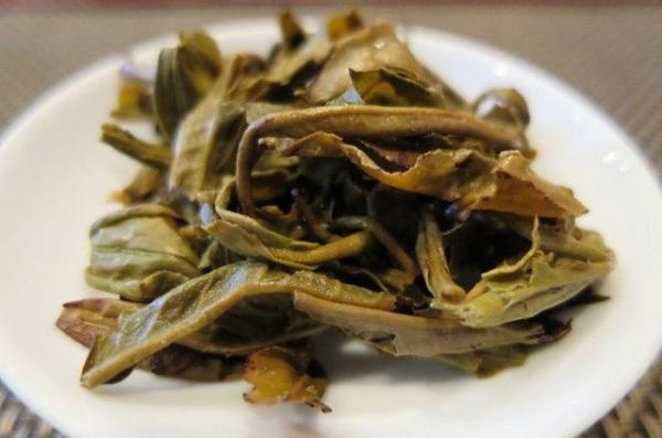 中国緑茶 白龍珠 茉莉花茶 叶底