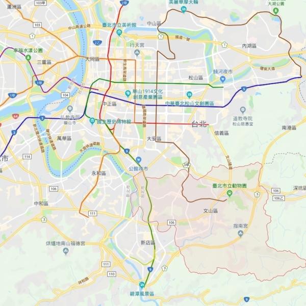 台北市 文山区 地図