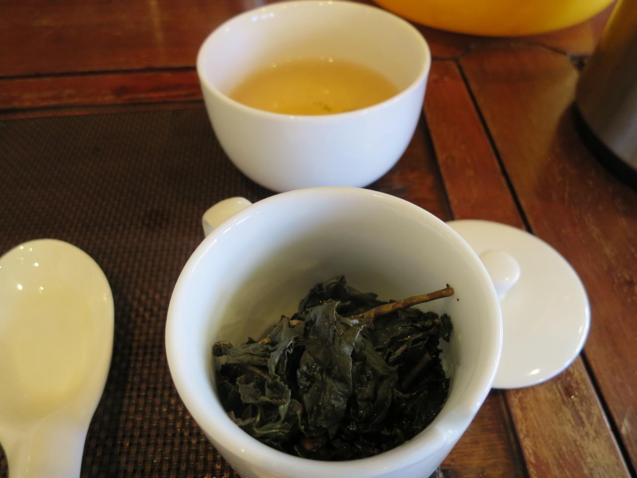 阿里山烏龍茶 冬茶焙煎仕上げ 茶湯
