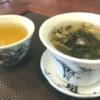 中国茶を淹れた 蓋椀と茶杯