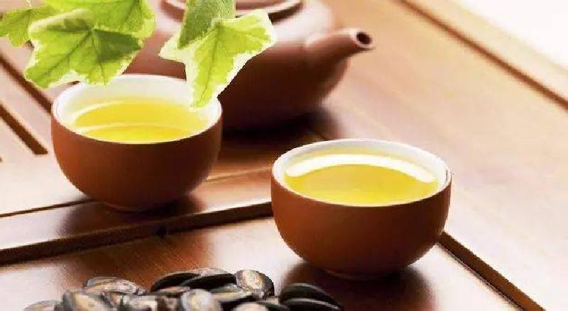 中国茶と秋にイメージ