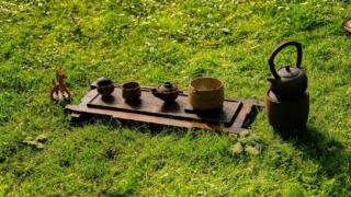 お茶を公園で淹れる