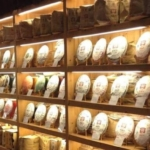 プーアル茶の商品棚