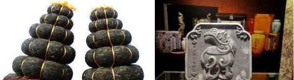 装飾品的プーアル茶