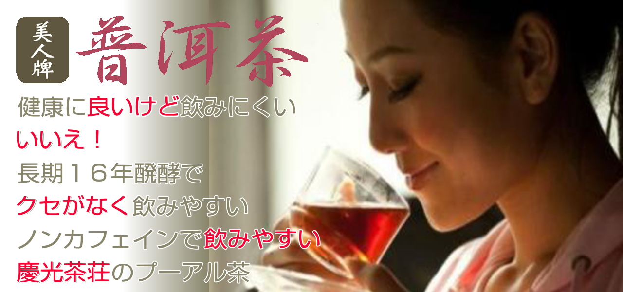 飲みやすいノンカフェインのプーアル茶 ダイエットに メタボに 成人病に 便秘に