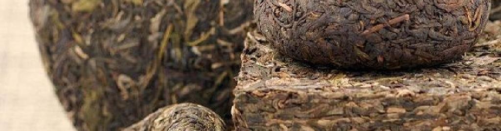 様々な形の普洱茶