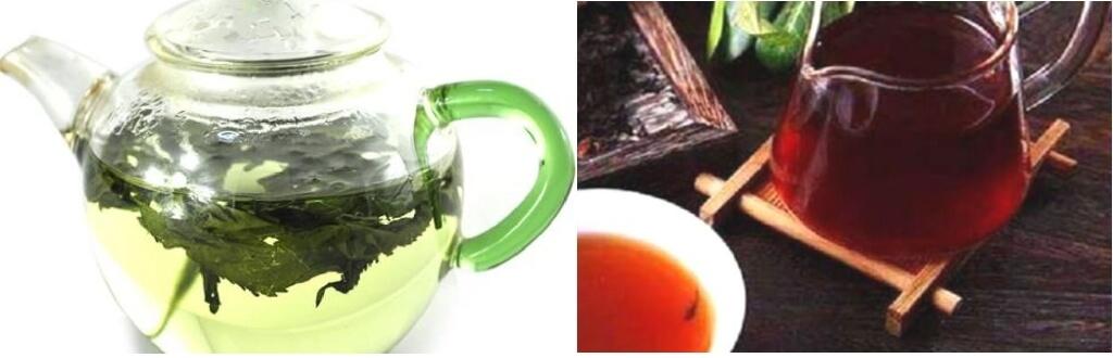 杜仲茶とプーアル茶