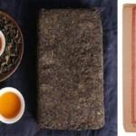 茯茶の茶葉と茶湯