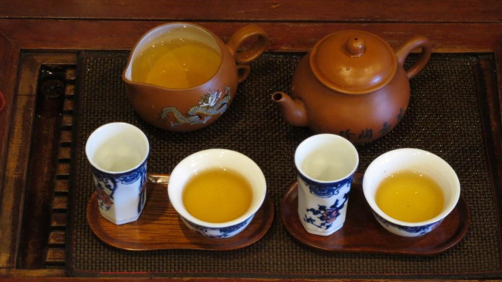 中国工夫茶器で淹れる 完了