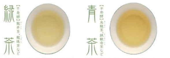 中国茶六大茶分類とは 青茶(烏龍茶) 緑茶