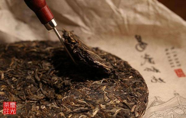 プーアル茶を崩す
