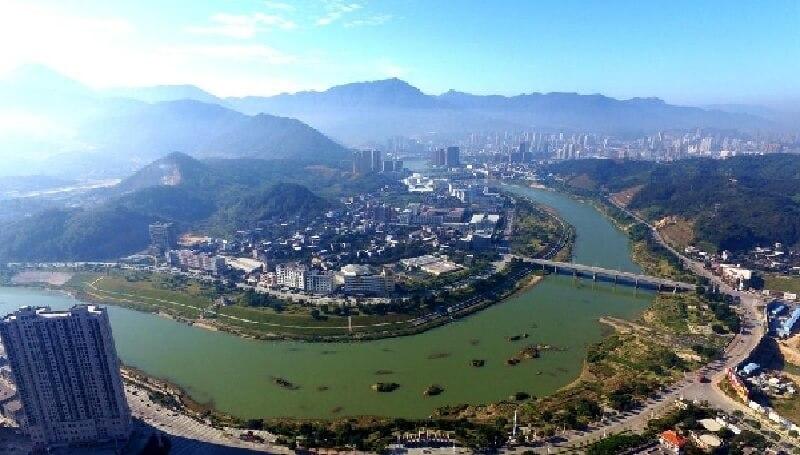 福建省 安渓の景観
