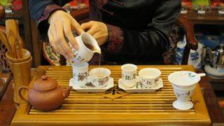 中国茶芸で中国茶を淹れる