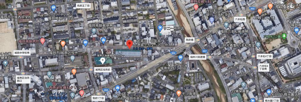 慶光茶荘アクセスマップ