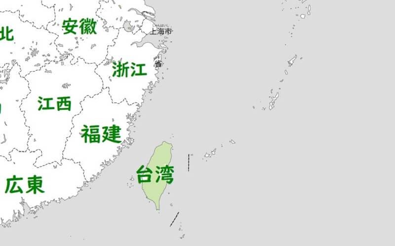 台湾の位置図