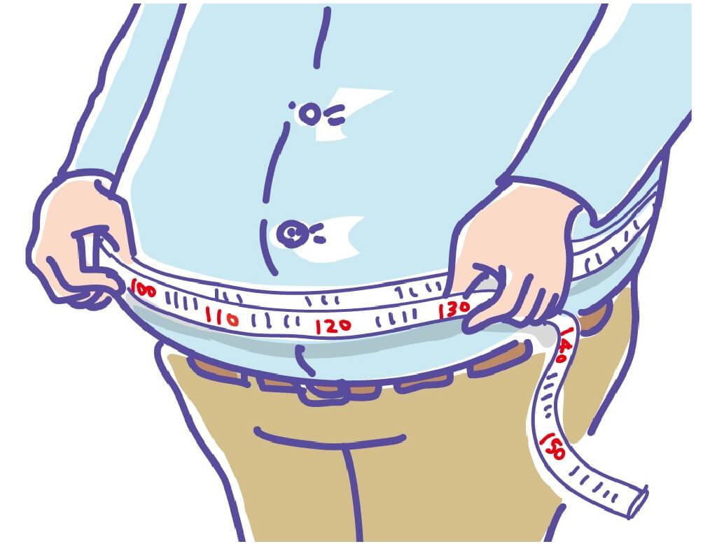太りすぎ 脂肪肝のイメージ
