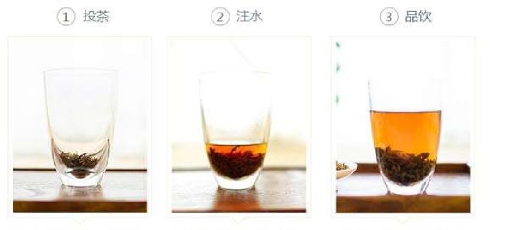 紅茶をグラスで飲む