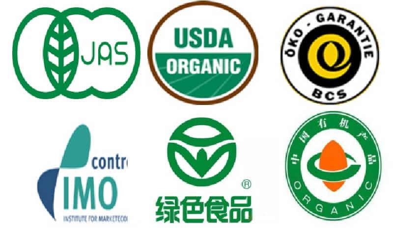 様々な国の有機規格