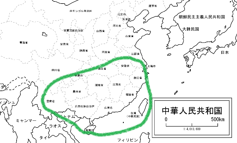 お茶の生産地