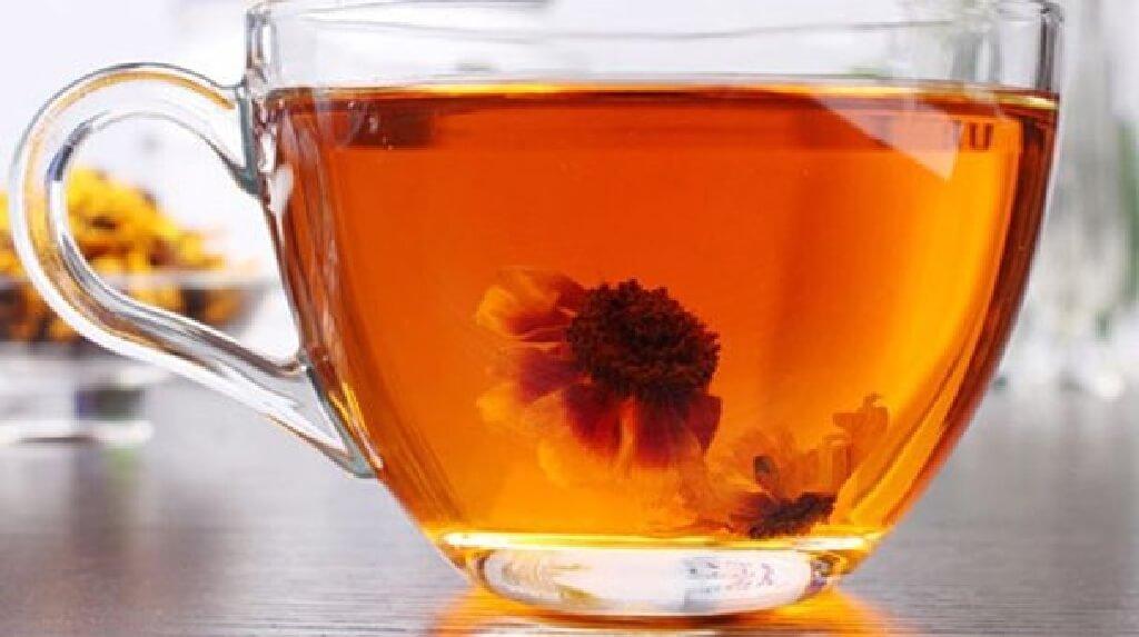 雪菊茶の茶湯