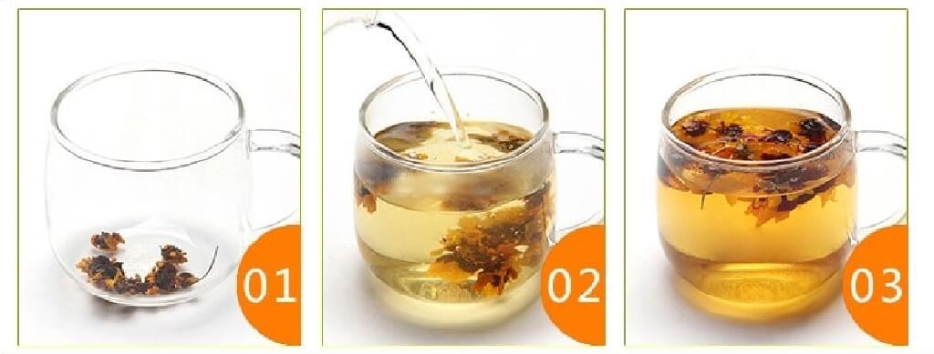 雪菊茶の飲み方3ステップ